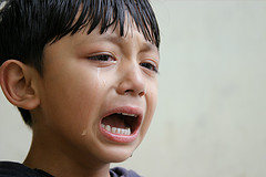 Giving in to the child's demands upon his crying or throwing a tantrum may indicate inconsistent parenting