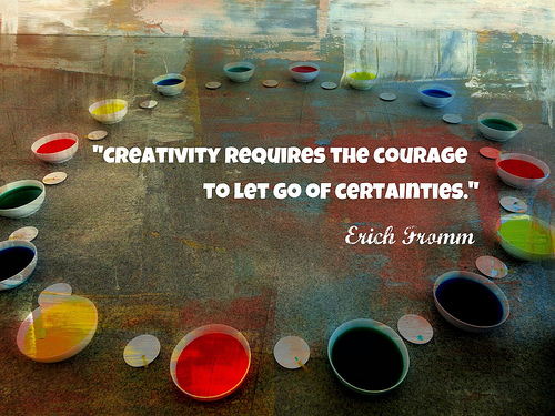 How can we be creative when we are feeling stuck in a situation?